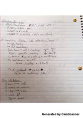 Database function notes