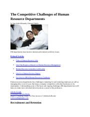 The Competitive Challenges of Human Resource Departments.docx