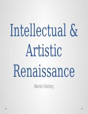 Intellectual & Artistic Renaissance