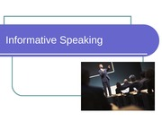Intro to Informative Speaking