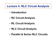 20080924_Circuit Review_4_RLC Circuit Analysis [Compatibility Mode]4