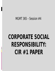 MGMT 365 Sess 4 - CSR and CIR #1 handouts.pptx