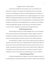 Management Theories and The Workplace_Hieu Nguyen_MGT521.doc