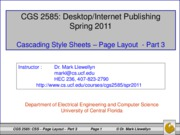 Cascading Style Sheets - Page Layout - Part 3
