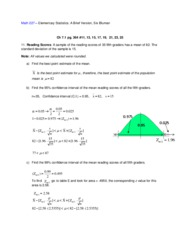 Bluman 5th_Chapter 7 HW Soln