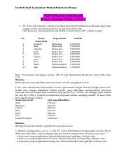 Contoh Soal Modul Akuntansi Biaya Docx Contoh Soal Jawaban Modul Akuntansi Biaya Pertemuan Sembilan Biaya Tenaga Kerja Btk 1 Pt Aulia Advertisment Course Hero