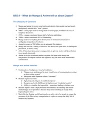 Role of Anime & Manga in Japan