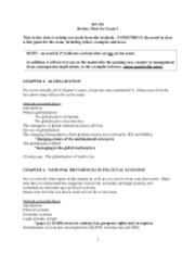 MHR 2000 review sheet module 1 2012