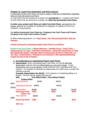 Chapter 11 - Lecture Notes on Estimating Cash Flow and Risk Analysis
