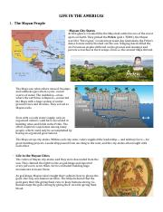 Chapter 16 - 2 Life in the Americas