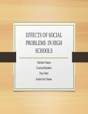 EFFECTS OF SOCIAL PROBLEMS  IN HIGH SCHOOLS.pptx