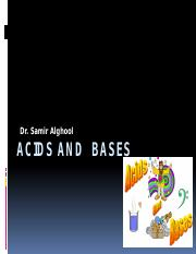 Acids and  bases lecture 1