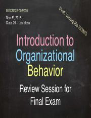 Review Final Session