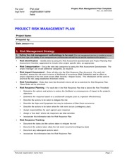 Project_Risk_Management_Plan_Template