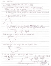 7.1 Oblique Triangles and The Law of Sines