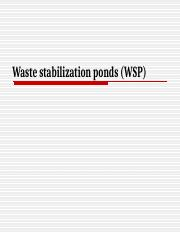 Lecture 11 (Waste stabilization ponds)_284220614.ppt