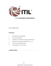 a - Paper 2 40 ITIL v3 Foundation Exam Q&As