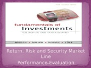 LEC 8 - Return, Risk Performance Evaluation