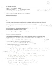 Multiple Regression Notes
