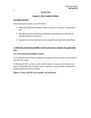 EI111_LECTURE NOTES_Lecture 2_The Economic Problem