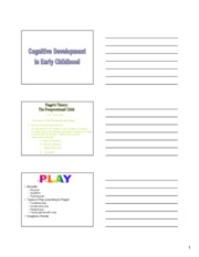 07 - Cognitive Development in Early Childhood