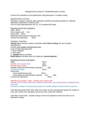 Managerial Accounting Variable_AbsorptionCosting