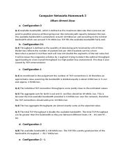 Computer Networks Homework 3.docx