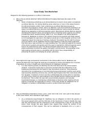 case study two worksheet psych 660