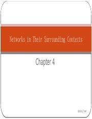 Chapter 4 Networks in their surrounding contexts
