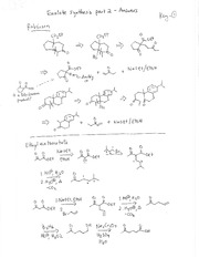 Enolate Synthesis Problem Set 2 Solution