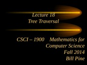 Lecture 18 - Tree Traversal