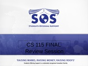 Jumana SOS Slides - CS 115 Final