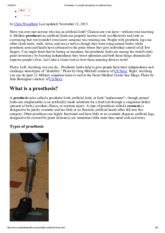 Prosthetics_ A simple introduction to artificial limbs