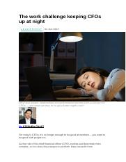 The work challenge keeping CFOs up at night.docx