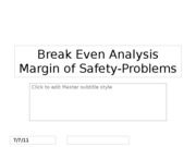 Break Even Analysis-mos