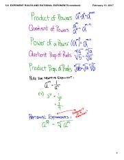 5.6  EXPONENT RULES AND RATIONAL EXPONENTS