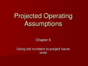 6 - Projected Operating Assumptions