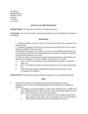 persuasive essay drunk driving laws