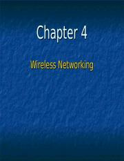 Chapter 4 - Wireless Networking - Fixed