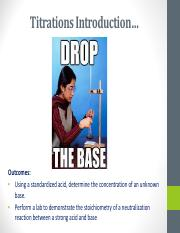 9.  Titrations Introduction
