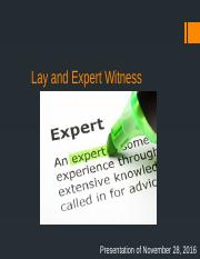 JUS-230 Lay and Expert Witness