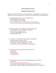 Microeconomics qz ch 8 and 9.docx