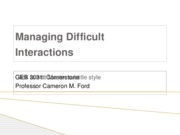 Managing DIfficult Interactions