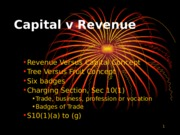 4.3 - Capital v Revenue and other income