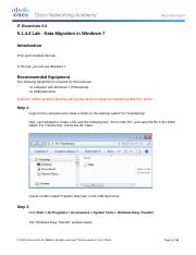 5.1.4.4 IG Lab - Data Migration in Windows 7.docx