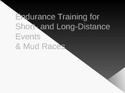 Endurance Training Lecture Slides