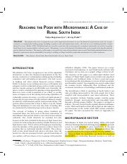 reaching the poor with microfin in s india.pdf