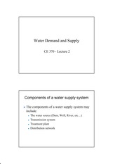 Water Demand and Supply_Lecture 2