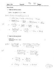 Exam IV With Solutions
