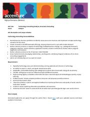 Roles Available Under Accenture Graduate Consulting  Software Engineerin...